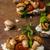 toasted bruschetta with riccotta and pesto stock photo © peteer