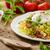 piros · bab · saláta · tükörtojás · vegetáriánus · edény - stock fotó © peteer