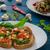 szendvics · gombák · fából · készült · felület · étel · olaj - stock fotó © peteer