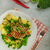 ブロッコリー · サラダ · 新鮮な · チェダー · チーズ - ストックフォト © peteer