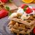 csokoládé · sültkrumpli · gyümölcsök · banán · eprek · tej - stock fotó © Peteer