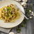 Fettuccine with garlic and mushrooms stock photo © Peteer