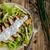 Салат · пластина · простой · древесины · куриные · вилка - Сток-фото © peteer
