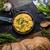 ovos · mexidos · frigideira · ervas · como · rústico · pão - foto stock © Peteer