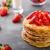 raio · morangos · maduro · fruto · vermelho · garfo - foto stock © peteer