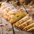 finom · sütemény · mazsola · fehér · fa · asztal · tekercsek - stock fotó © peteer