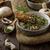 marrom · cogumelo · prato · faca · garfo · comida - foto stock © peteer