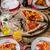 деревенский · салями · пиццы · чоризо · все · таблице - Сток-фото © peteer