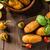 fatto · in · casa · patate · prodotto · foto · semplice · nero - foto d'archivio © peteer