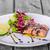 salmone · primo · piano · bacchette · piazza · piatto - foto d'archivio © peteer