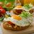 здорового · завтрак · помидоров · белый · деревянный · стол - Сток-фото © peteer