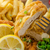 schnitzel french fries and microgreens salad stock photo © peteer