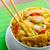 caril · de · frango · arroz · chinês · verde - foto stock © Peteer