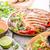 domuz · eti · beyaz · plaka · yağ · akşam · yemeği · maydanoz - stok fotoğraf © peteer