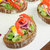Brown bread with avocado, smoked salmon, boiled egg stock photo © Peteer