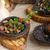 gombák · töltött · zöldségek · paradicsom · piros · paprika · mozzarella - stock fotó © peteer