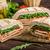 İtalyan · sandviç · tok · lezzetli · jambon · peynir - stok fotoğraf © peteer