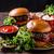 rundvlees · hamburger · rustiek · stijl · chili · paprika - stockfoto © peteer