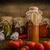 házi · készítésű · ketchup · bio · paradicsomok · kert · kicsi - stock fotó © Peteer