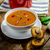 goulash soup with crispy garlic toast stock photo © peteer