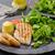 lechuga · a · la · parrilla · frescos · ensalada · pollo · a · la · parrilla · nueces - foto stock © peteer