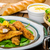 куриные · жареный · меда · продовольствие · обеда · красный - Сток-фото © peteer