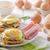 卵 · ほうれん草 · 素朴な · パン · ニンニク - ストックフォト © peteer