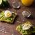 sandviç · somon · avokado · yumurta · peynir · uygunluk - stok fotoğraf © peteer