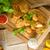 kip · ketchup · voedsel · borst · diner - stockfoto © peteer