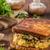 rustik · kahvaltı · ekmek · tost · mantar · yumurta - stok fotoğraf © peteer