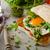 sahanda · yumurta · ıspanak · kahvaltı · üst · görmek · kadın - stok fotoğraf © peteer