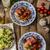prosciutto · tyúk · sült · vaj · töltelék · koktélparadicsom - stock fotó © Peteer