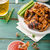 sıcak · kanatlar · basmati · pirinç · ızgara · tavuk · akşam · yemeği - stok fotoğraf © peteer
