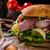 croustillant · baguette · sandwich · oeuf · planche · à · découper - photo stock © peteer