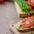 fraîches · pain · herbe · dîner · bois · alimentaire - photo stock © peteer