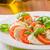 salada · caprese · branco · prato · foto · tiro · folhas - foto stock © peteer