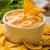 tigela · salsa · tortilla · batatas · fritas · mesa · de · madeira · vidro - foto stock © peteer