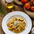 homemade potato gnocchi with nuts and parmesan stock photo © peteer