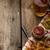 タマネギ · リング · ホット · ディップ · フライドポテト · チェコ語 - ストックフォト © Peteer