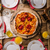 servido · mini · pizza · caseiro · ovo · frito · cebolas - foto stock © peteer