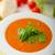 sopa · de · tomate · manjericão · branco · prato · mármore · fundo - foto stock © peteer
