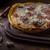 pizza · prosciutto · mozzarella · mesa · de · madera · superior · vista - foto stock © peteer