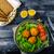 Mac · kaas · macaroni · individueel · schotel · brood - stockfoto © peteer
