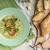 kremowy · por · zupa · toast · panini - zdjęcia stock © Peteer