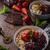 iogurte · floresta · tigela · branco - foto stock © peteer