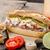 domuz · eti · sandviç · uzun · et · taze - stok fotoğraf © peteer
