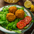 жареная · курица · макароны · Салат · обеда · продовольствие - Сток-фото © peteer