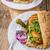 patates · kızartması · tavuk · kırmızı · et · hızlı · yemek - stok fotoğraf © peteer