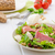 Салат · мяса · моцарелла · копченый · помидоров · орех · кешью - Сток-фото © peteer