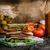 füstölt · hús · szendvics · friss · sajt · saláta - stock fotó © Peteer